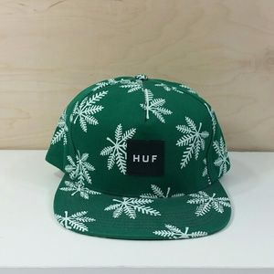 HUF Green Snapback Snowflake Hat